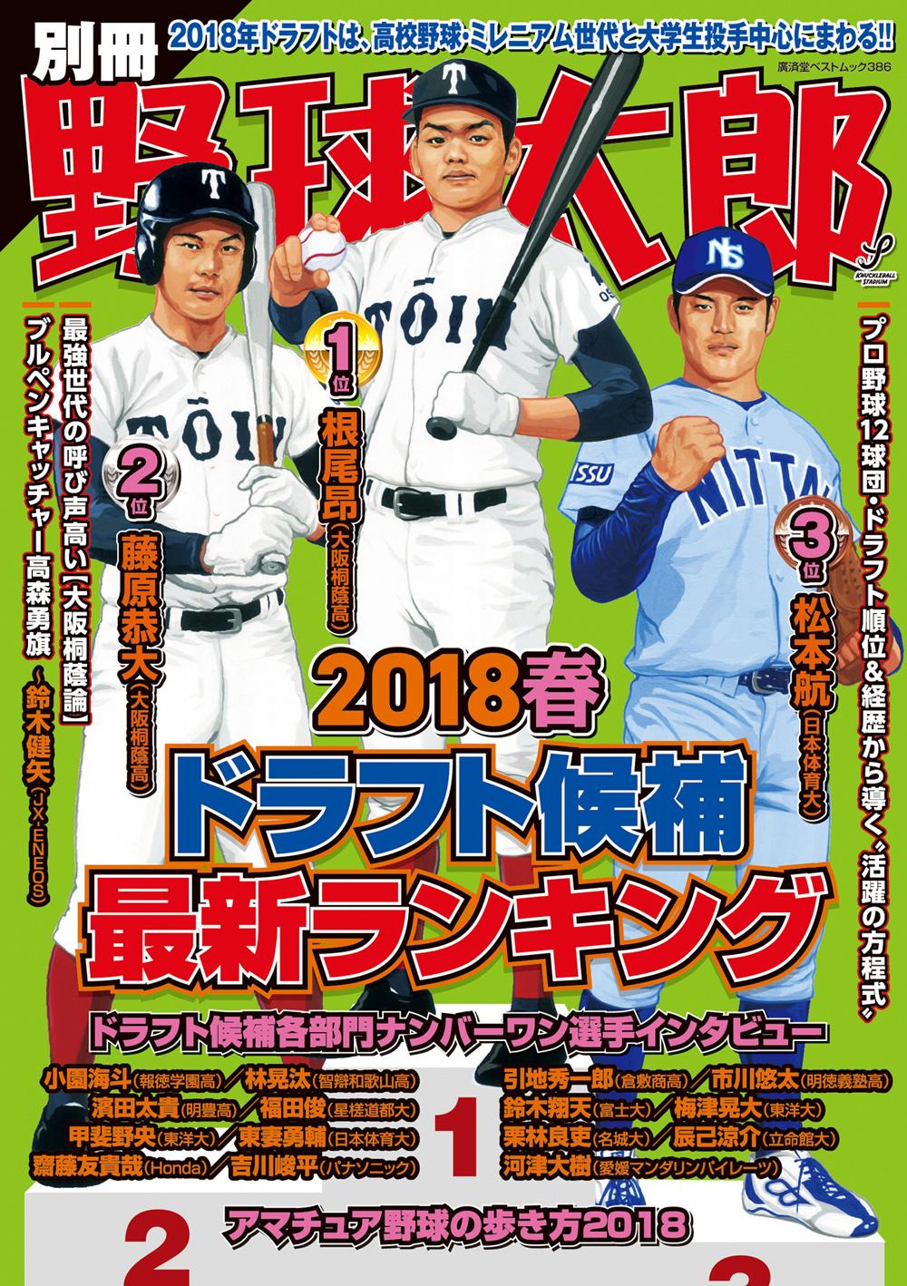 『別冊野球太郎 2018春 ドラフト候補最新ランキング』は選手インタビューたっぷり! 4月3日発売です!